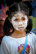 A child with her face decorated for Songkran 2017 in Nakhon Nayok, Thailand. PHOTO BY LEE CRAKER