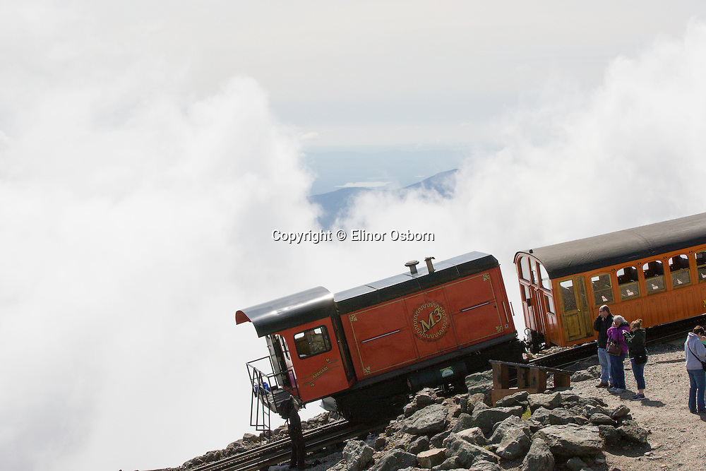 Mt Washington Cog Railway 1869, Second steepest mountain climbing train in the world, biodiesel engine