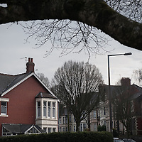 No.110 Ninian Road (house on left) where 17-year-old Aamir Siddiqi was murdered in 2010 by hit men who went to the wrong house. The intended target was Mohammed Ali Tanhai who lived round the corner at No. 85 Shirley Road (on the right in distance), Cardiff, Wales.