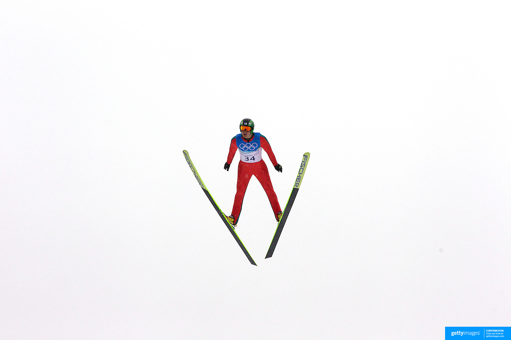 Winter Olympics, Vancouver, 2010.Janne Ryynaenen, Finland,  in action during the Nordic Combined Ski Jumping at The Whistler Olympic Park, Whistler, during the Vancouver  Winter Olympics. 12th February 2010. Photo Tim Clayton