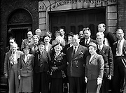 Irish Red Cross Society Central Council Meeting at Headquarters, Dublin.14/07/1953..Mrs Tom Barry is pictured in the front row, third from right.  Leslie de Barra (née Price) married Tom Barry in 1921.  She was the director of organisation for Cumann na mBan and later President of the Irish Red Cross Society. She died in 1984. Tom and Leslie Barry are buried in St Finbarr's Cemetry Cork just above the Republican Plot to the right of the main gate as you enter.