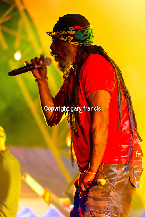 Asian Dub Foundation from the UK play at Womadelaide 2016 Music Festival held between 11 - 14 March 2016 in Adelaide, South Australia