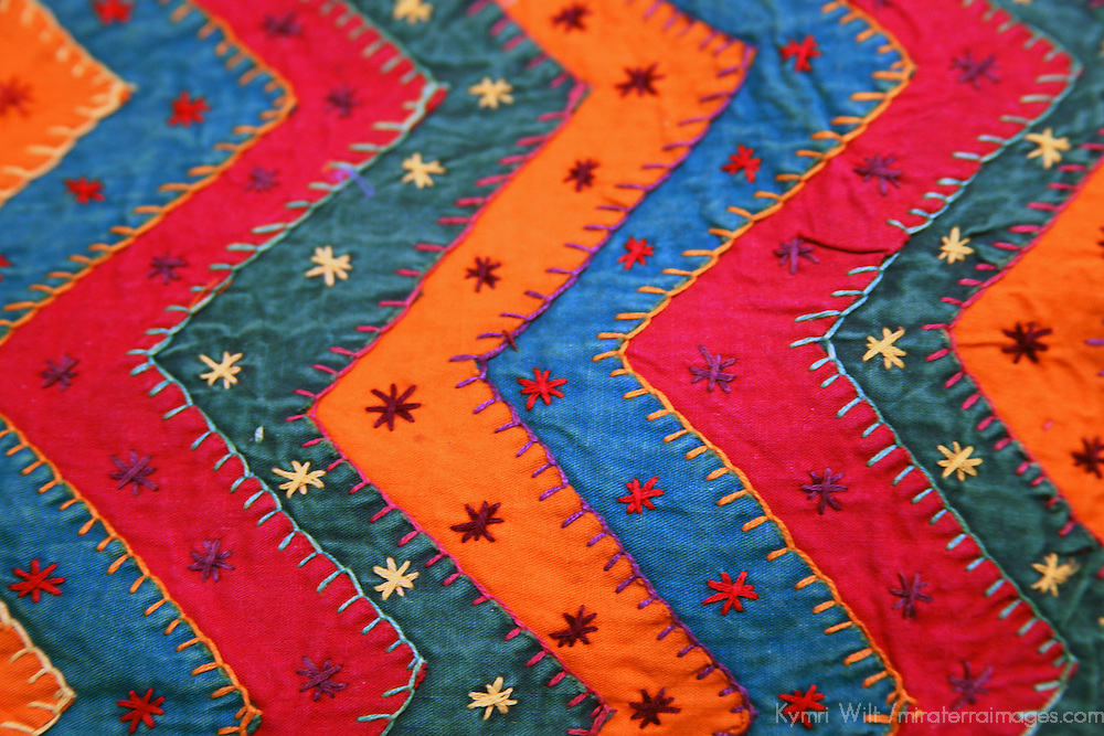 Asia, India. Jaipur. Traditional Indian Textile.