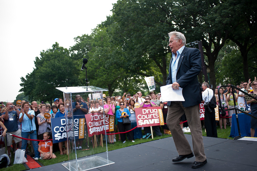 Actors MARTIN SHEEN at a rally on Capitol Hill for the National Association of Drug Court Professionals (NADCAP). NADCAP hosted the rally to petition members of Congress to fund drug courts, versus continuing to spend money on the prison system.
