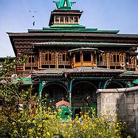 The Shah-i-hamadan shrine in Kashmir, India, also known as the Papier-mâché mosque.,Kashmir, India