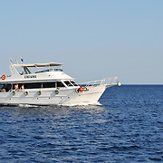 Medium size King Mina yacht with tourists in Red sea, Egypt