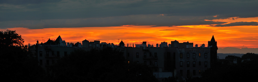 After sunset in Brooklyn, New York.