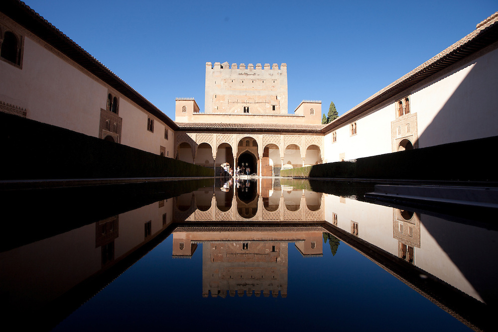 Reflections at the Alhambra in Granada, Spain