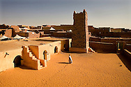 The Friday mosque is supposedly dated of the 13/14th century and the squared minaret is said to be the 2nd oldest in use in the world. Chinguetti, a medieval trading center founded in the 13th century, now home of some libraries full of ancient arab manuscripts