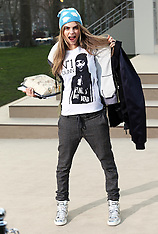 FEB 18 2013 Cara Delevingne at the Burberry show at LFW A/W 13