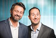 OSLO, 20131031: TV2 presenterte og arrangerte pressem&oslash;te med programledere og kommentatorertil OL-sendingene hos Senkveld. Thomas Numme og Harald R&oslash;nneberg. <br /> FOTO;  TOM HANSEN