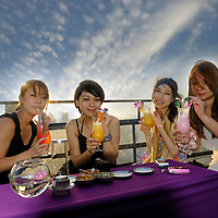 (m) View over Bangkok with Moon Bar at Banyan Tree Hotel, The Leading Hotels of the World, City, Bangkok, Thailand