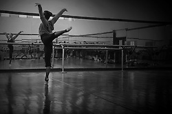 Principal dancer, Truong Cam Anh, of Vietnam National Opera & Ballet rehearses for Swan Lake in a VNOB studio in Hanoi, Vietnam, Southeast Asia