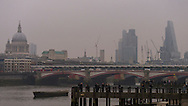 The City of London Skyline during today's Eclipse Approx 09.30), London, Britain - 20-Mar 2015.