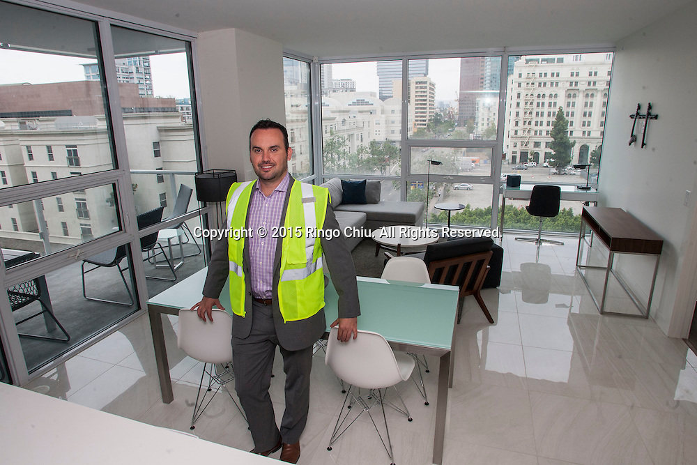 Javier Cepeda, who is the regional vice president of Level Furnished Living, an extended stay hotel that will open next year.(Photo by Ringo Chiu/PHOTOFORMULA.com)