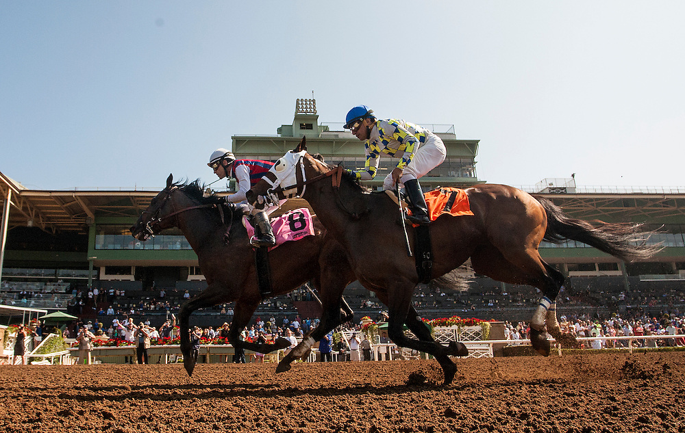May 30 2015: Catch a Flight with Gary Stevens (Left) defeats Moreno and Cornelio Velasquez to win the Californian Stakes at Santa Anita Park in Arcadia CA. Alex Evers/ESW/CSM