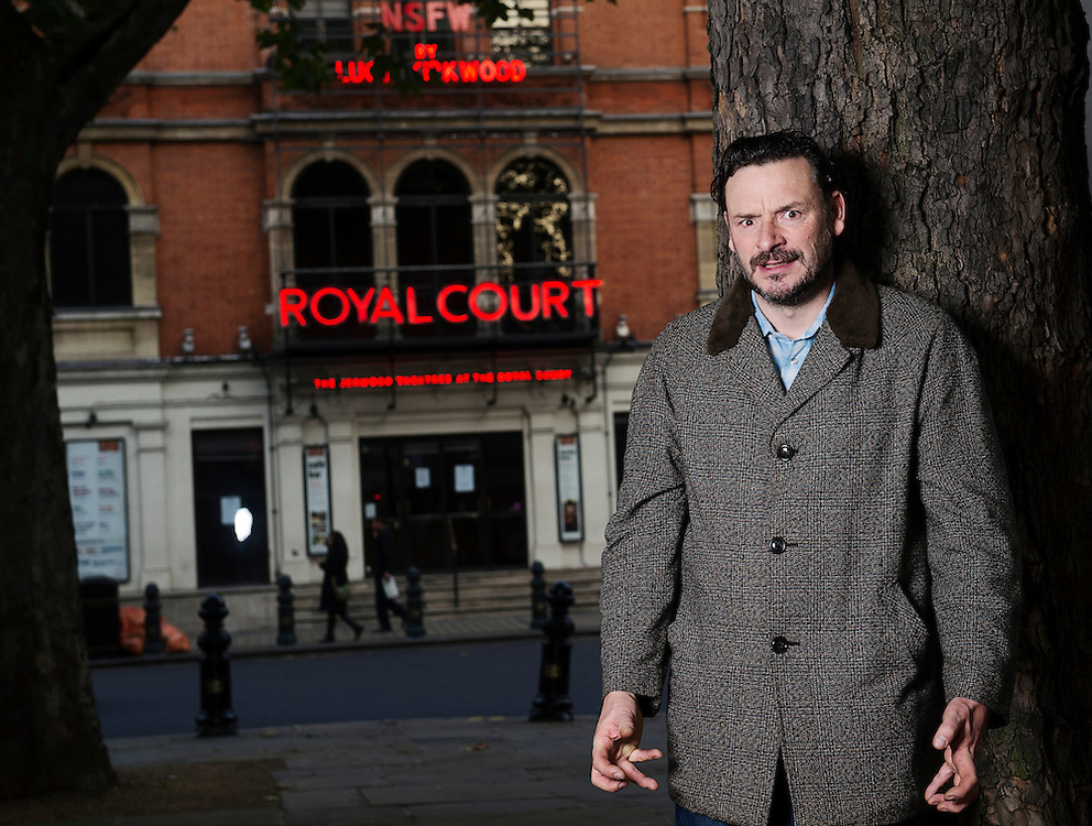 Actor &amp; Comedian Julian Barrett at The Royal Court theatre in Sloan Square, London, October 24th 2012.<br /> Julian Barrett stars in Lucy Kirkwood&rsquo;s new play at the Royal Court Theatre, NSFW, directed by Simon Godwin.