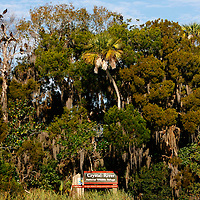 CRYSTAL RIVER, FL -- January 4, 2009 -- A sign marks an off-limits area to the Crystal River National Wildlife Refuge during a American Pro Diving Center tour in Crystal River, Fla., on Sunday, January 4, 2009.  Crystal River is the home of the nation's largest population of manatees, who will often come right up to humans on the various snorkeling and scuba tours of the area.  (Chip Litherland for The New York Times)