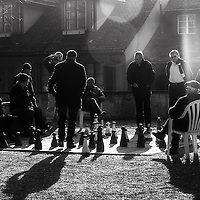 Playing giant chess in the park