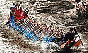 The Annual boat races in Nam Bak, Laos.