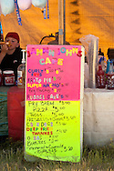 Food vendor, Milk River Indian Days Pow Wow, Fort Belknap Indian Reservation, Montana.