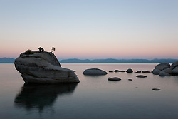 """Sunrise at Bonsai Rock 2"" - This sunrise was photographed at the beautiful Bonsai Rock, near Sand Harbor, Lake Tahoe."