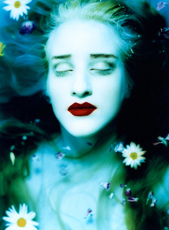 Laurel as Ophelia. Originally published in 1989 for Fad Magazine.<br /> <br /> This image is available as a limited print edition. For print availability &amp; pricing or rights managed licensing of this image contact the photographer directly through email.
