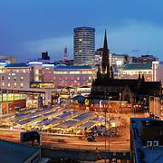 Birmingham panoramic city skyline