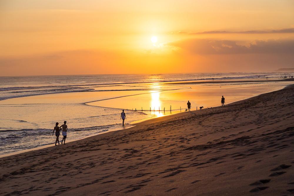 Sunset at Kayu Putih beach in Canggu.