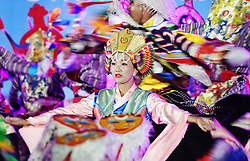 A picture made available on 19 September 2016 of Tibetan dancers performing during the opening ceremony of the Third China Tibet Tourism and Culture Expo in Lhasa, Tibet Autonomous Region, China, 10 September 2016. China is heavily promoting tourism in the region as it plans to attract 24 million tourists this year and 35 million by 2020. It opened the weeklong Third China Tibet Tourism and Culture Expo on 10 September 2016 inviting more than 400 overseas guests including ambassadors, diplomats and merchants from all over the world.