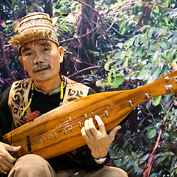 Milan, Italy - February  17: Malaysian player performs at BIT International Tourism Exchange on february 17, 2012 in Milan, Italy.