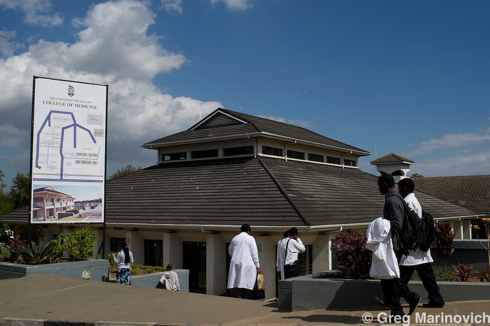 Blantyre, Malawi, June 2011. The southern city of Blantyre is home to the University of Malawi's College of Medicine. Photo Greg Marinovich