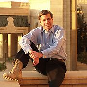 25 April 2004....Baghdad, Iraq.....US Ambassador Paul Bremer.......After nearly one year in country acting as the US Ambassador to Iraq Paul Bremer has rarely been seen off duty. His work schedule is punishing, from his 630 am start thru to a late finish he constantly rushes from meeting to meeting. Meals are often taken at his desk whilst reading memos or emails.....Photo: Ambassador Bremer on the balcony of the Republican Palace, Baghdad, Iraq.