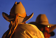 Image of Cowgirl and Cowboy at the Santa Fe Rodeo, Santa Fe, New Mexico
