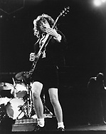 AC/DC 1983 Angus Young.© Chris Walter.