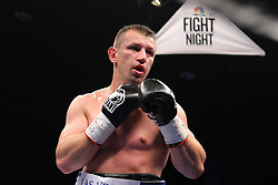 Dec 22, 2012; New York, NY, USA; Tomasz Adamek during his 12 round IBF North American Heavyweight title bout against Steve Cunningham at the Sands Casino Resort Bethlehem.