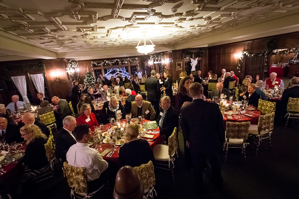 The annual President's Christmas Party took place at the Bozarth Mansion on Thursday, Dec. 3, 2015. (Photo by Ryan Sullivan)