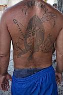 Tattoo in Santiago de Cuba, Cuba.