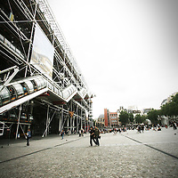 Centre Georges Pompidou, also known as the Pompidou Centre in English, is a complex in the Beaubourg area of the 4th arrondissement of Paris, near Les Halles, rue Montorgueil and the Marais. It was designed in the style of high-tech architecture. (via Wikipedia)
