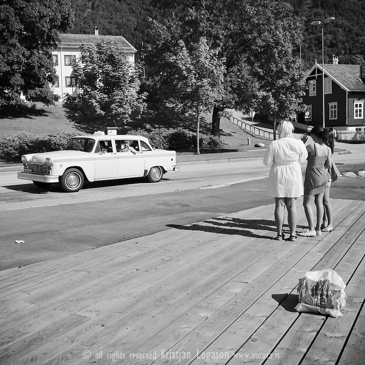 Old style taxi - Norway