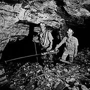 Jul 1, 1999 - Brazil - Brazilian gold miners in an underground mining area in Minas Gerais, Brazil.<br /> (Credit Image: &copy; Louie Palu/louie Palu/ZUMA Press)