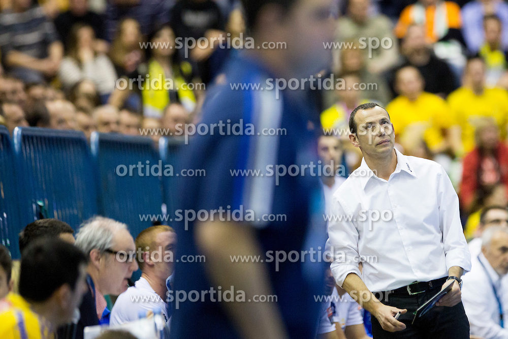 during handball match between RK Celje Pivovarna Lasko (SLO) and MAHB Montpellier (FRA) in Round 8 of EHF Champions League 2014/15, on December 6, 2014 in Arena Zlatorog, Celje, Slovenia. Photo by Urban Urbanc / Sportida
