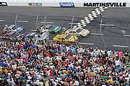 30 March - 1 April, 2012, Martinsville, Virginia USA.Ryan Newman, AJ Allmendinger, Dale Earnhardt Jr., finial restart.(c)2012, Scott LePage.LAT Photo USA