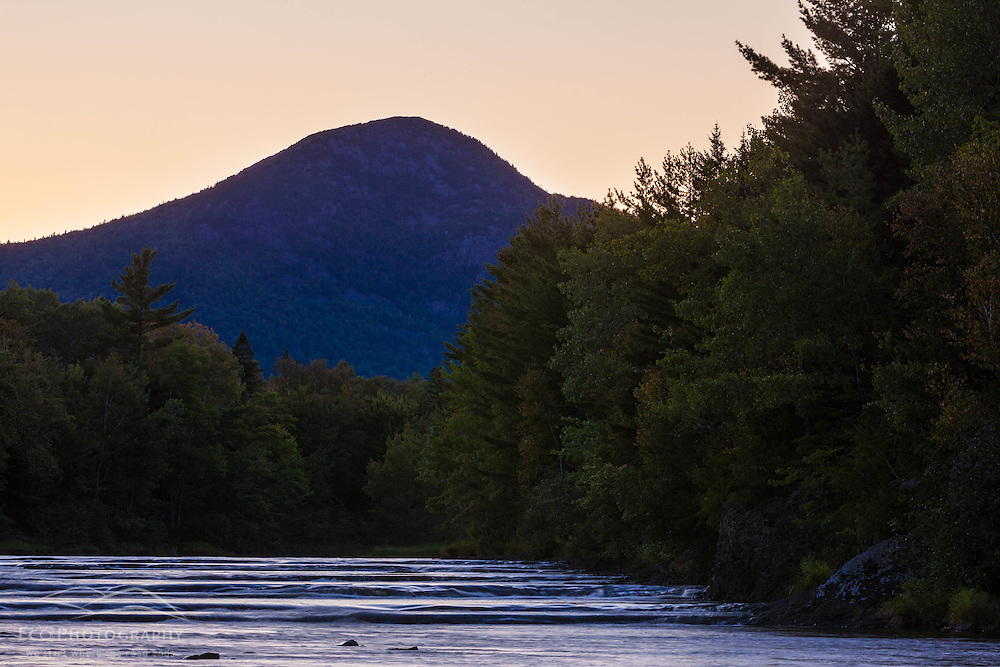East Branch of the Penobscot River at Stair Falls in Maine's Northern Forest. Adjacent to the International Appalachian Trail.