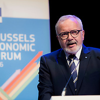 Brussels, Belgium, 9 June 2016<br /> Brussels Economic Forum 2016.<br /> Werner Hoyer, President of the European Investment Bank.<br /> The Brussels Economic Forum (BEF) is the flagship annual economic event of the European Commission.<br /> The BEF brings together top European and international policymakers and opinion leaders as well as civil society and business leaders. It is the place to take stock of economic developments, identify key challenges and debate policy priorities.<br /> Photo: European Commission / Ezequiel Scagnetti