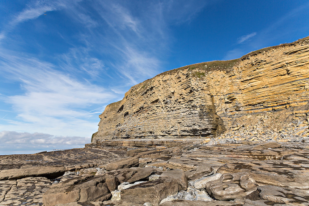This west-facing bay near Bridgend in South Wales is famous for the geological nature of its sedimentary rock.