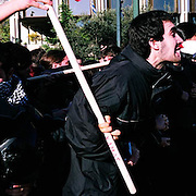 After the murder of Alexandros Grigoropoulos Athens became a war zone.  People stood up to the police and the government destroying many businesses, banks and mostly anything in their way.  People were outraged throughout Greece which is now speading around Europe.  These are the days that followed. Image © Angelos Giotopoulos/Falcon Photo Agency