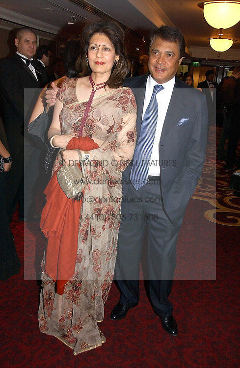 MR &amp; MRS MONI VARMA - The Man behind the Veetee food Brand at the 10th Anniversary Asian Business Awards 2006 at the London Grosvenor Hotel Park Lane, London on 19th April 2006.<br /><br />NON EXCLUSIVE - WORLD RIGHTS
