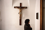 A cross in the Greco-Catholic church (precise translation of name TK) serving the Ukrainian community in Warsaw.