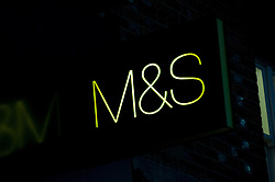 Marks and Spencer sign, Reading, Berkshire, England, 13 November 2013. Picture by Jonathan Mitchell / i-Images